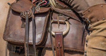 Saddle-leather